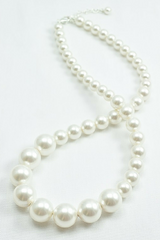 Graduated pearl necklace / Big pearl necklace / Large pearl jewelry / Click to shop now...