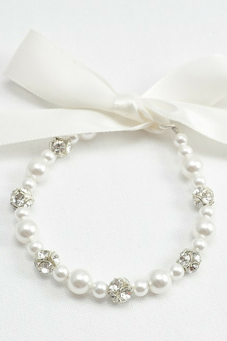 Baby Pearl Bracelet Makes Great Flower Girl Gifts
