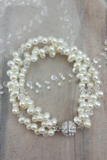 what to wear to a bridal shower // pearl bracelet // bride style