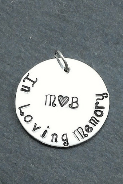 Memorial Charm / Bridal Bouquet Charm / Wedding Charm In Loving Memory