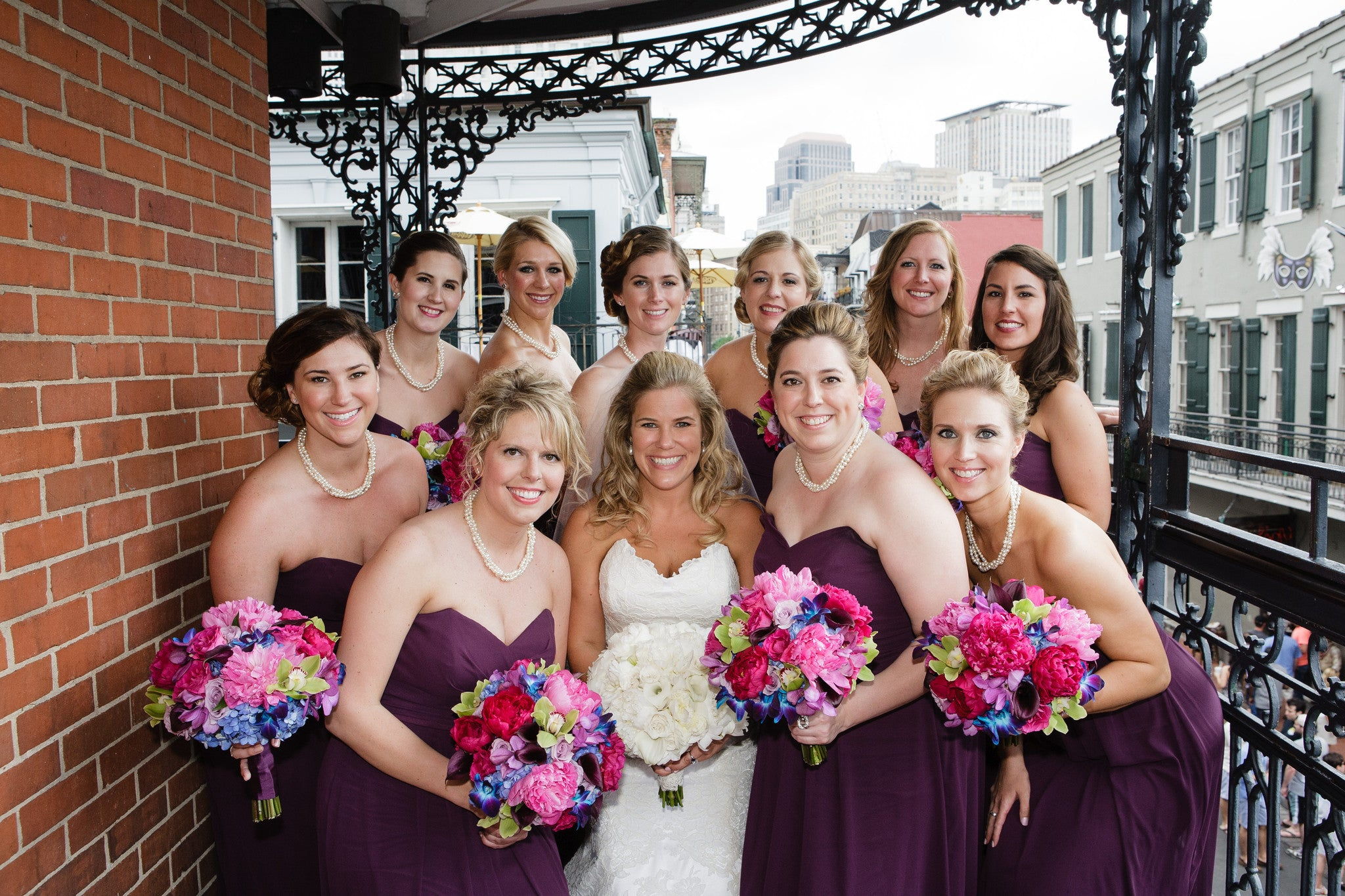 Multi Strand Pearl Necklace For Bridesmaids