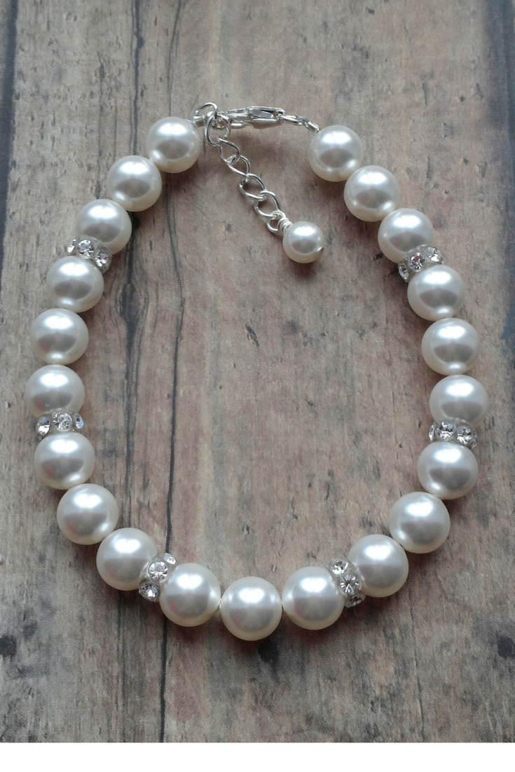 Pearl And Crystal Bracelet For Your Bridesmaid Jewelry