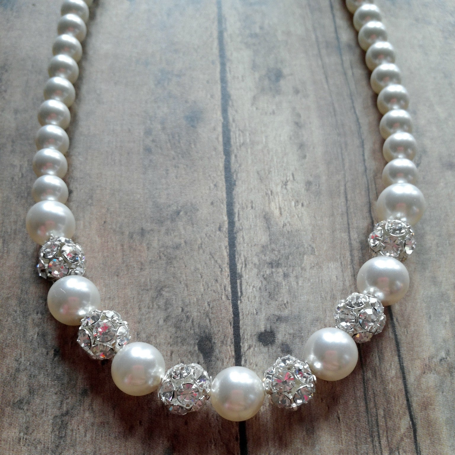 Pearl Necklace That Matches All Wedding Dress Necklines