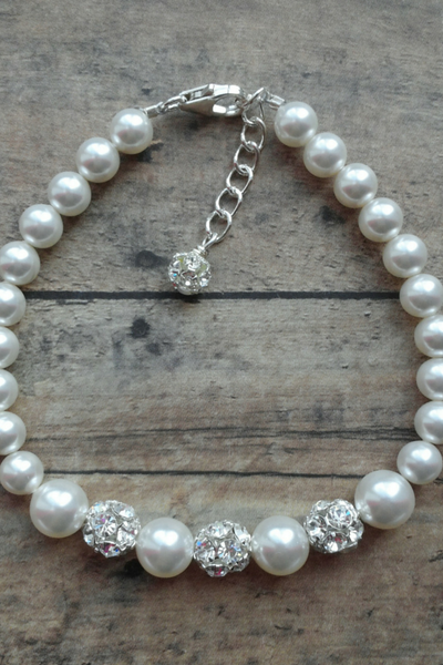 Wedding Bracelets Using Swarovski Pearl And Rhinestones