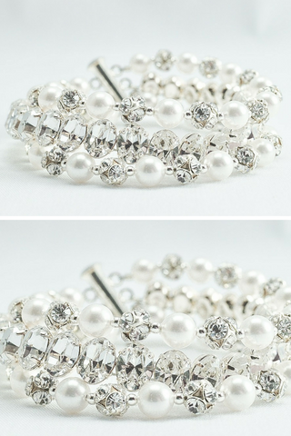 Multi Strand Pearl Bracelet For A Vintage Wedding