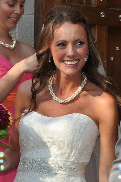Pearl statement necklace for the bride