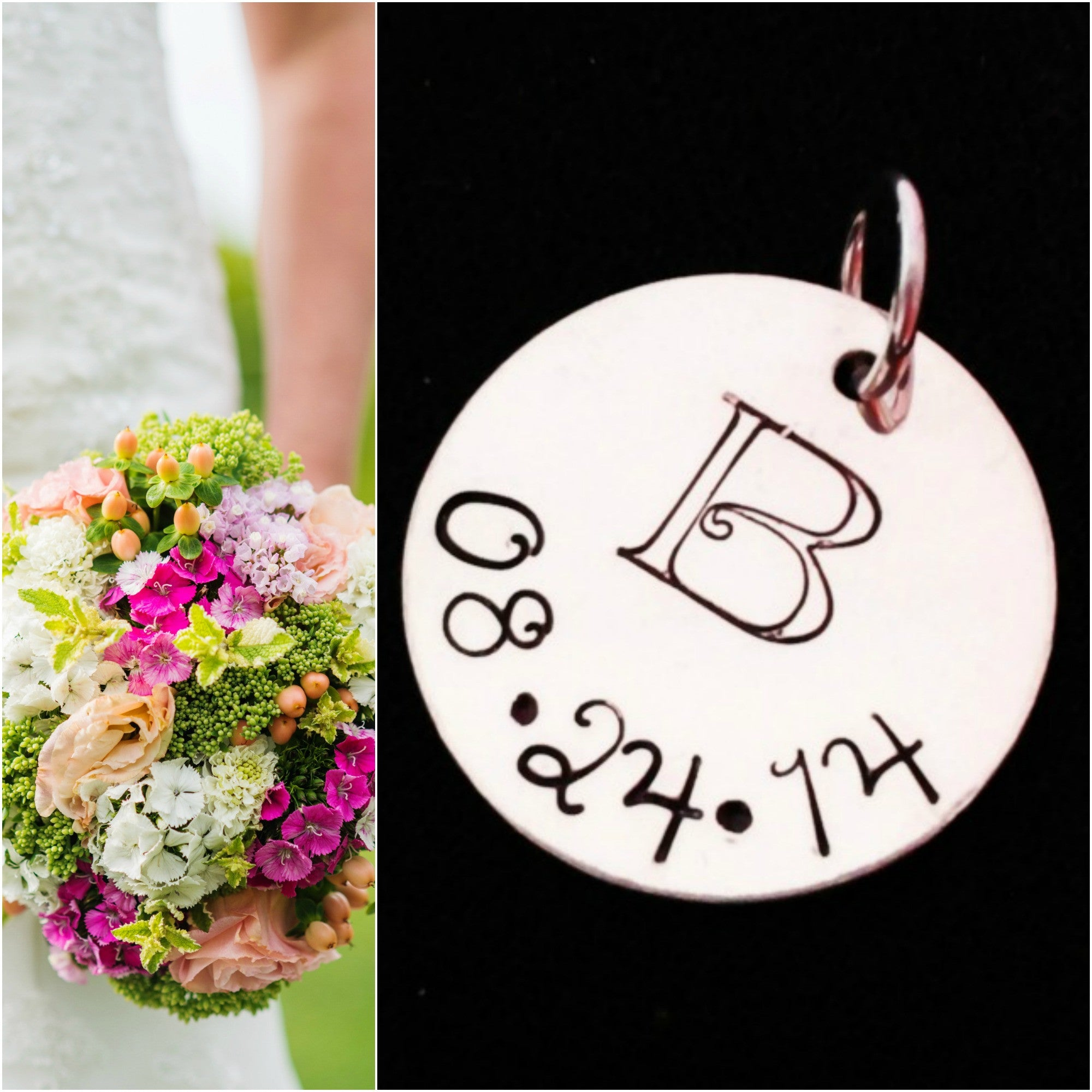 Wedding Bouquet Charm / Wedding Charm / Anniversary Gift for Her