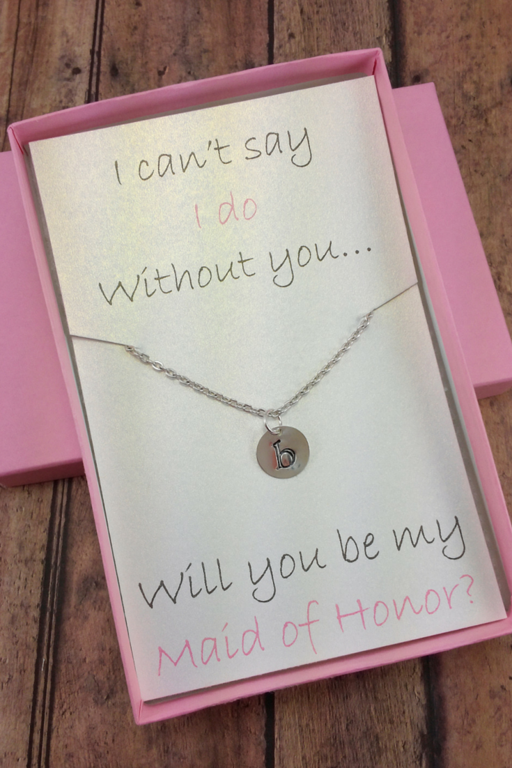 Will You Be My Maid Of Honor Gift Set Asking Your Moh Amanda Badgley Designs