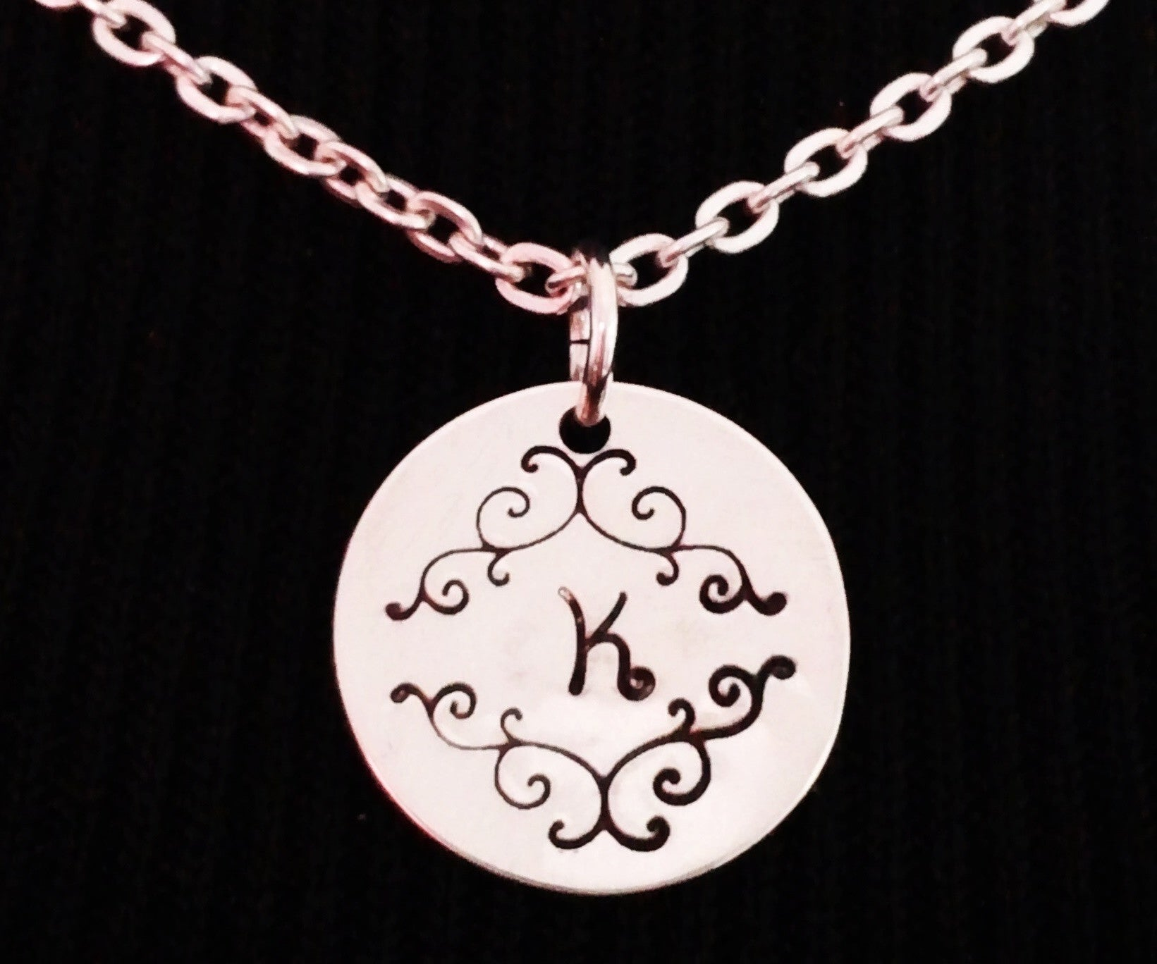 Monogrammed Necklace Sterling Silver