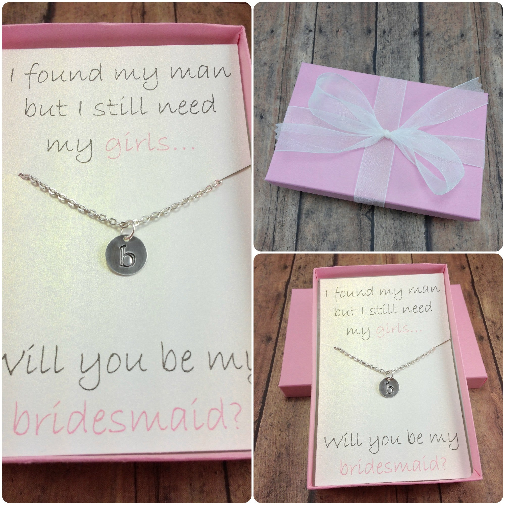 Will You Be My Bridesmaid / How To Ask Bridesmaid / Bridesmaid Necklace
