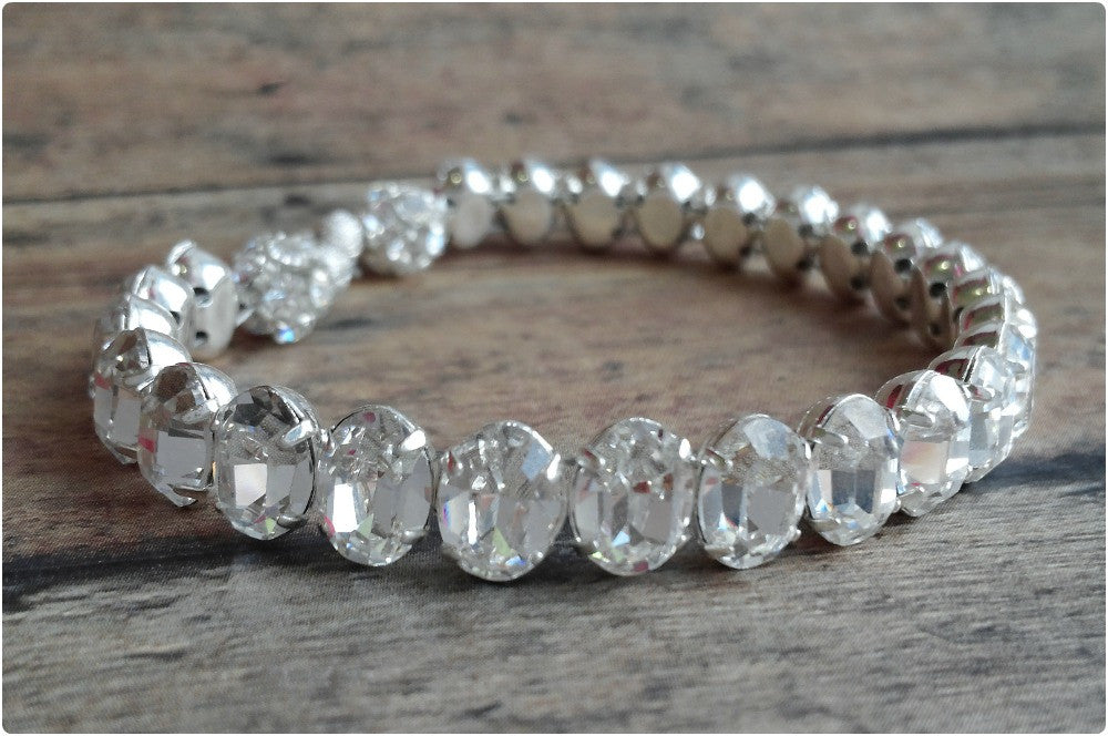Swarovski Crystal Bracelet As A Wedding Bridal Bracelet