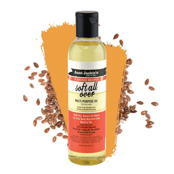 Aunt Jackie's Flaxseed Soft All Over Multi Use Oil 8oz.