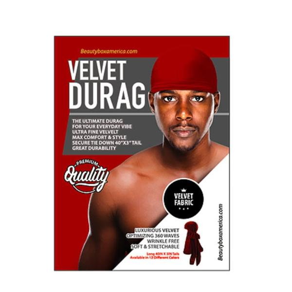 BTB Luxurious velvet Durag red one