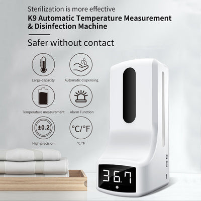 (2-in-1) Wall-Mount Infrared Thermometer & Automatic Soap Dispenser