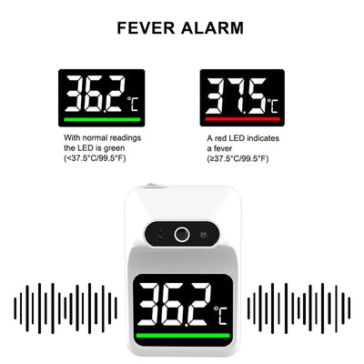 Automatic Wall mount infrared thermometer