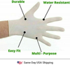 Disposable Latex Hand Gloves - 100PK - Same Day USA Shipping
