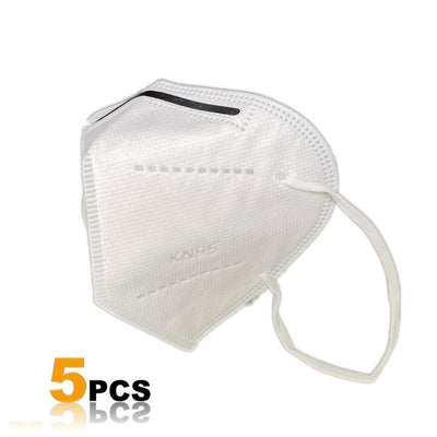 KN95 Protective Face Mask with Filtration >95% (5 PK)