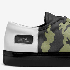 Premium Italian-Made Skater Style Shoes - Camo