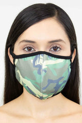 Camouflage Print Face Mask