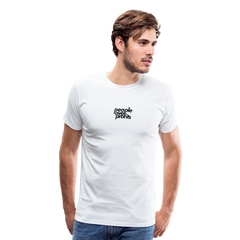 People Over Profits Men's Premium T-Shirt - white