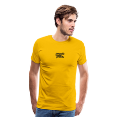 People Over Profits Men's Premium T-Shirt - sun yellow