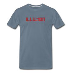 ILLUSION Men's Premium T-Shirt - steel blue