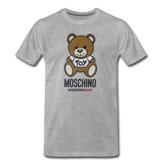 MOSCHINO Men's Premium T-Shirt - heather gray
