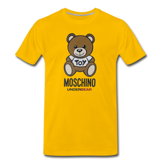 MOSCHINO Men's Premium T-Shirt - sun yellow
