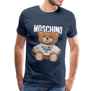 MOSCHINO This Is Not A Moschino Toy Men's Premium T-Shirt - navy