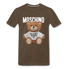 MOSCHINO This Is Not A Moschino Toy Men's Premium T-Shirt - noble brown