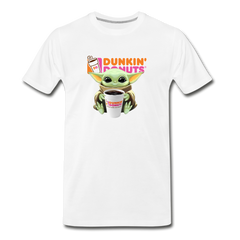 Baby Yoda Child Yoda Dunkin Donuts Men's Premium T-Shirt - white