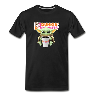 Baby Yoda Child Yoda Dunkin Donuts Men's Premium T-Shirt - black
