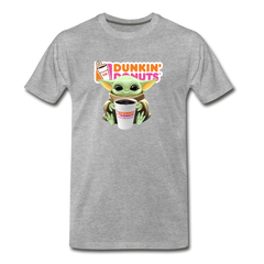 Baby Yoda Child Yoda Dunkin Donuts Men's Premium T-Shirt - heather gray