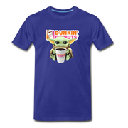Baby Yoda Child Yoda Dunkin Donuts Men's Premium T-Shirt - royal blue