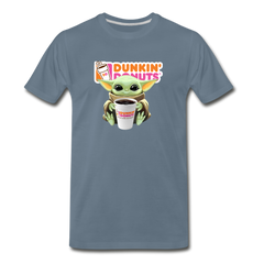 Baby Yoda Child Yoda Dunkin Donuts Men's Premium T-Shirt - steel blue