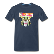 Baby Yoda Child Yoda Dunkin Donuts Men's Premium T-Shirt - navy
