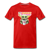 Baby Yoda Child Yoda Dunkin Donuts Men's Premium T-Shirt - red