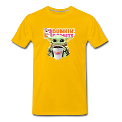 Baby Yoda Child Yoda Dunkin Donuts Men's Premium T-Shirt - sun yellow