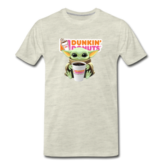 Baby Yoda Child Yoda Dunkin Donuts Men's Premium T-Shirt - heather oatmeal