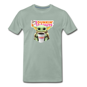 Baby Yoda Child Yoda Dunkin Donuts Men's Premium T-Shirt - steel green