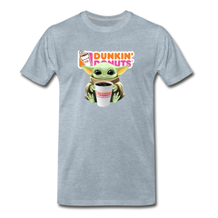 Baby Yoda Child Yoda Dunkin Donuts Men's Premium T-Shirt - heather ice blue
