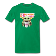 Baby Yoda Child Yoda Dunkin Donuts Men's Premium T-Shirt - kelly green