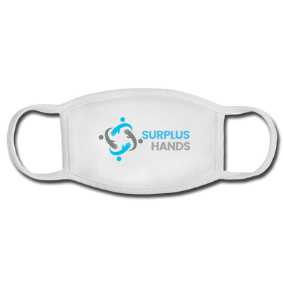 Surplus Hands Face Mask - white/white
