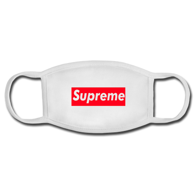 Supreme Face Mask - white/white