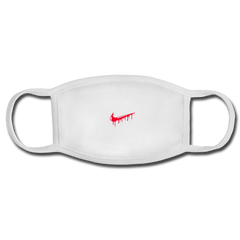 Nike Red Drip Face Mask - white/white