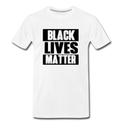 Black Lives Matter Men's Premium T-Shirt - white