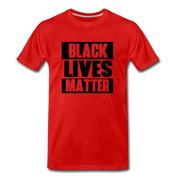 Black Lives Matter Men's Premium T-Shirt - red