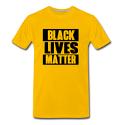 Black Lives Matter Men's Premium T-Shirt - sun yellow