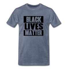 Black Lives Matter Men's Premium T-Shirt - heather blue