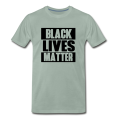 Black Lives Matter Men's Premium T-Shirt - steel green
